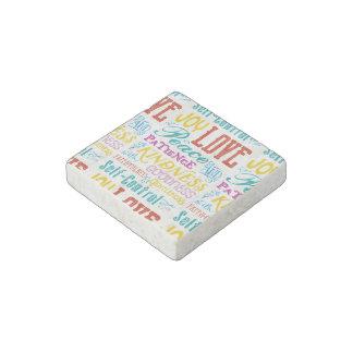 Magnet En Pierre Art de typographie de qualité de gentillesse de
