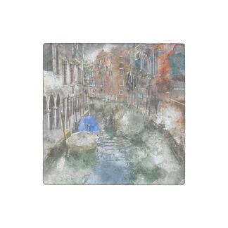 Magnet En Pierre Bateaux de Venise Italie dans le canal