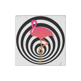Magnet En Pierre Beau flamant en cercles