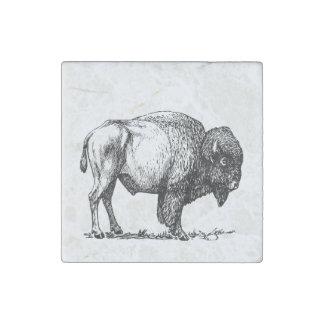 Magnet En Pierre Bison américain de Buffalo
