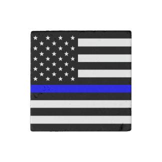 Magnet En Pierre Blue Line mince - drapeau américain