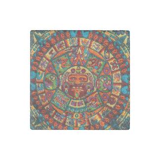 Magnet En Pierre Calendrier maya coloré
