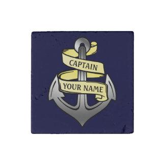 Magnet En Pierre Capitaine de bateau personnalisable votre ancre