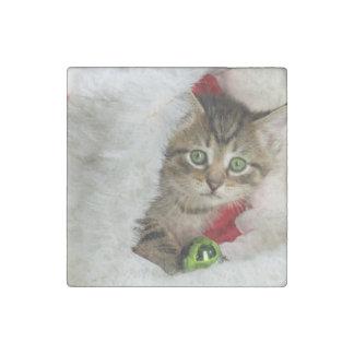 Magnet En Pierre Chat de Noël - chat de chaton - chats mignons