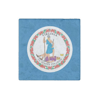 Magnet En Pierre Conception de drapeau de la VIRGINIE -