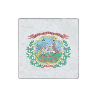Magnet En Pierre Conception de drapeau de la VIRGINIE OCCIDENTALE -