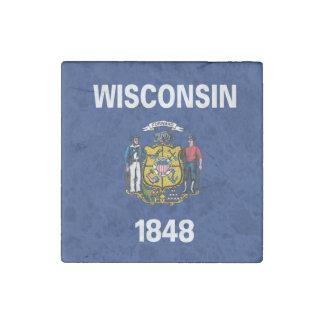 Magnet En Pierre Conception de drapeau du WISCONSIN -