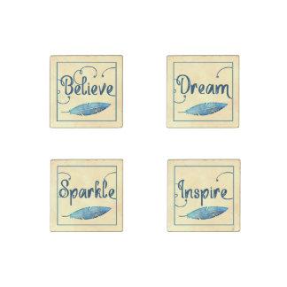 Magnet En Pierre Croyez que rêveur inspirez l'aquarelle de plume