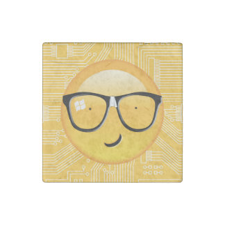 Magnet En Pierre D'Emoji technicien ID229 totalement