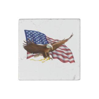 Magnet En Pierre Drapeau américain et Eagle