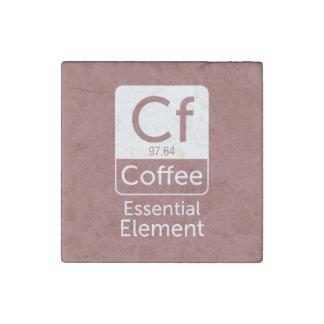 Magnet En Pierre Elem essentiel de chimie de calembour de café