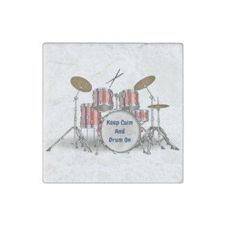 Magnet En Pierre Ensemble illustré de tambour