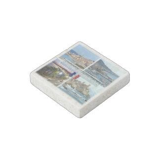 Magnet En Pierre Franc   d'Azur de France - la Côte d'Azur - de