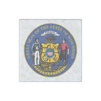 Magnet En Pierre Joint d'état du Wisconsin -