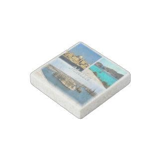 Magnet En Pierre La TA Malte - La Valette - baie bleue de lagune