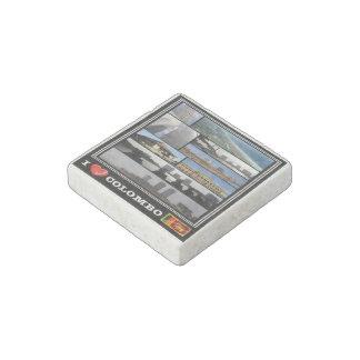 Magnet En Pierre Le LK Sri Lanka - Colombo - mosaïque d'amour d'I -