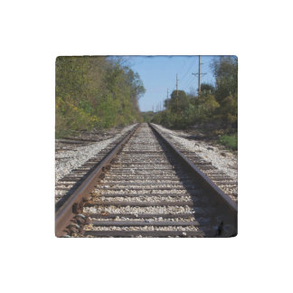Magnet En Pierre Le train de chemin de fer dépiste la photo