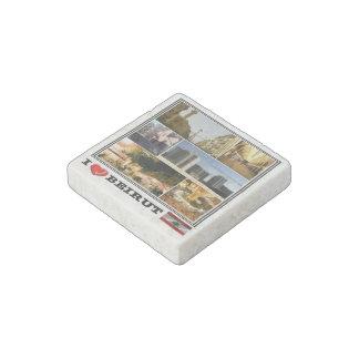 Magnet En Pierre Livre Liban - Beyrouth - mosaïque d'amour d'I -