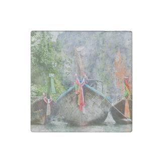 Magnet En Pierre Long bateau traditionnel en Thaïlande