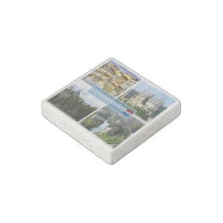 Magnet En Pierre LU Luxembourg - château d'Alzette - de Vianden -