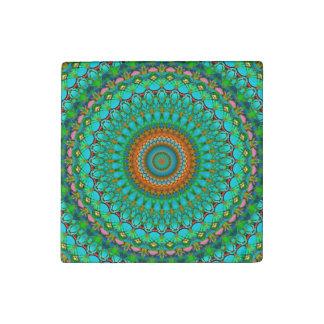 Magnet En Pierre Mandala géométrique G388 d'aimant en pierre