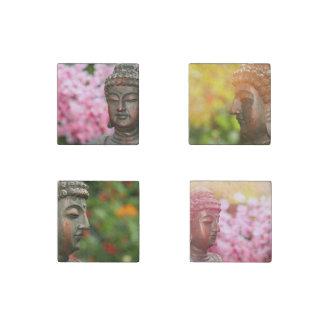 Magnet en pierre méditant de Bouddha