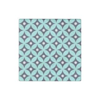 Magnet En Pierre Motif de pois bleu et blanc moderne de cercle