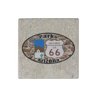 Magnet En Pierre Parcs historiques Arizona de l'itinéraire 66 des
