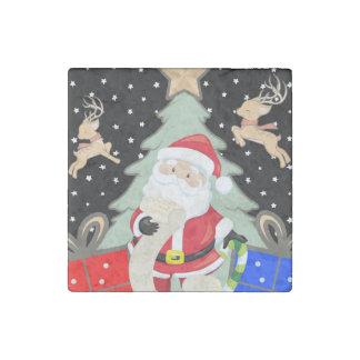 Magnet En Pierre Père Noël a une liste