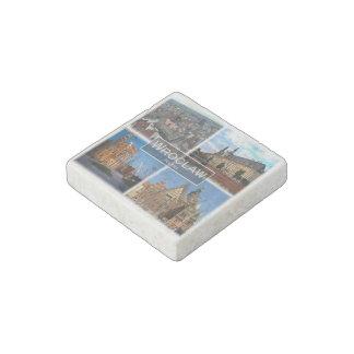 Magnet En Pierre PL Pologne - Wroclaw - carré du marché -