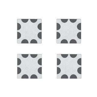 Magnet En Pierre Points gris-foncé Checkered