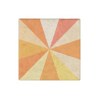 Magnet En Pierre Rayons 60s géométriques géniaux modernes d'art de