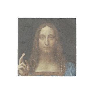 Magnet En Pierre Salvator Mundi le Christ avec le monde dans sa