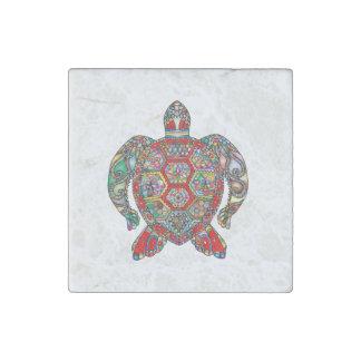 Magnet En Pierre Schéma ornemental floral décoratif tortue de mer