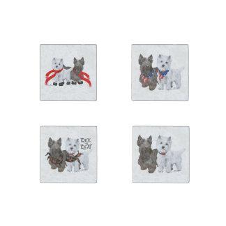 Magnet En Pierre Terriers des montagnes et écossais occidentaux