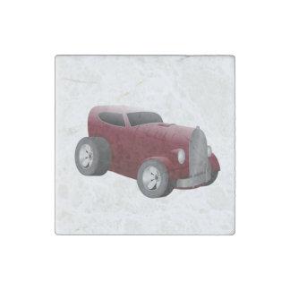 Magnet En Pierre voiture de muscle de hot rod de rouge de cerise