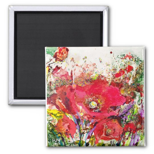 Magnet Fleurs rouge