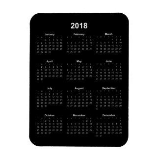 Magnet Flexible 2018 calendrier - texte blanc avec l'arrière -