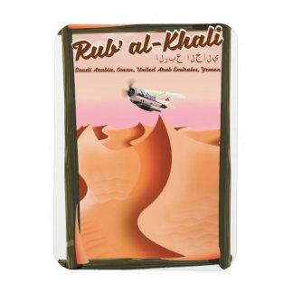Magnet Flexible Affiche de vacances de Khali Arabie Saoudite d'Al