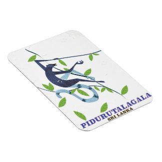 Magnet Flexible Affiche de voyage de Pidurutalagala Sri Lanka