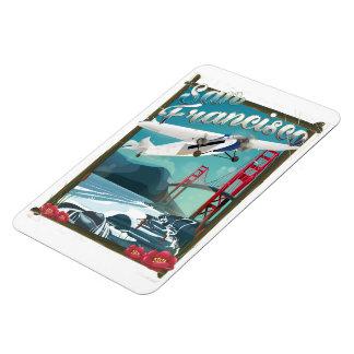 Magnet Flexible Affiche de voyage de vol de San Francisco