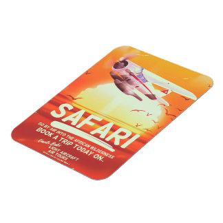 Magnet Flexible Affiche vintage d'aventure de safari