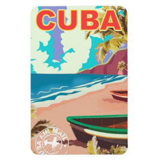 Magnet Flexible Affiche vintage de voyage du Cuba