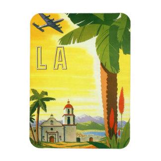 Magnet Flexible Affiche vintage de voyage, Los Angeles, la