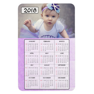 Magnet Flexible Aimant 2018 de calendrier de photo de famille de