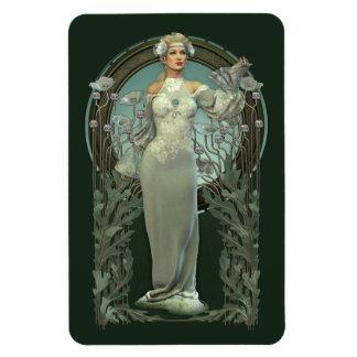 Magnet Flexible Aimant blanc de Madame de Nouveau d'art Flexi