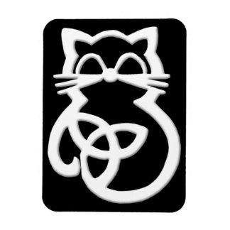 Magnet Flexible Aimant celtique de chat de noeud blanc de trinité
