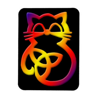 Magnet Flexible Aimant celtique de chat de noeud de trinité