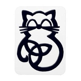 Magnet Flexible Aimant celtique de chat de noeud noir de trinité