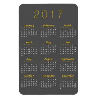 Magnet Flexible Aimant de 2017 calendriers - jaune et gris-foncé